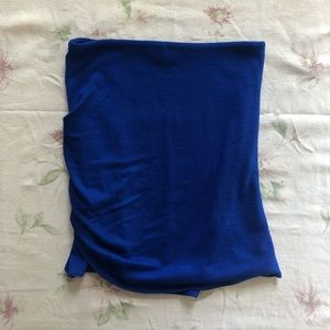 Aritzia blue bodycon ruched miniskirt XS SK